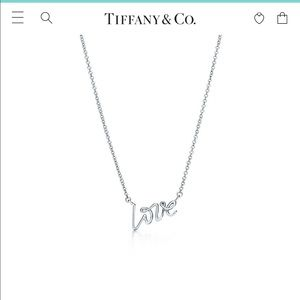 Tiffany Paloma Picasso Love Necklace